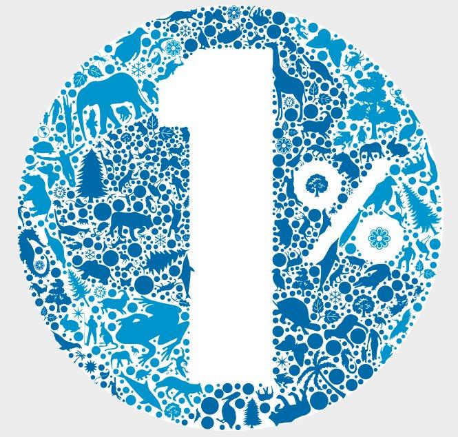 Logo 1 pourcent pour la planète