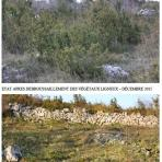 Chantier de restauration des pelouses de l'ENSD des Belvédères de Navacelles, décembre 2015
